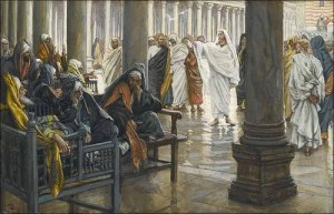 Jesus teaching in the Temple Tissot